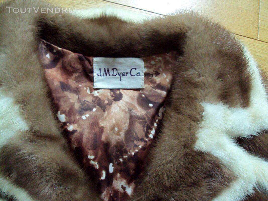 Manteau en vison brun et beige 40 194062173