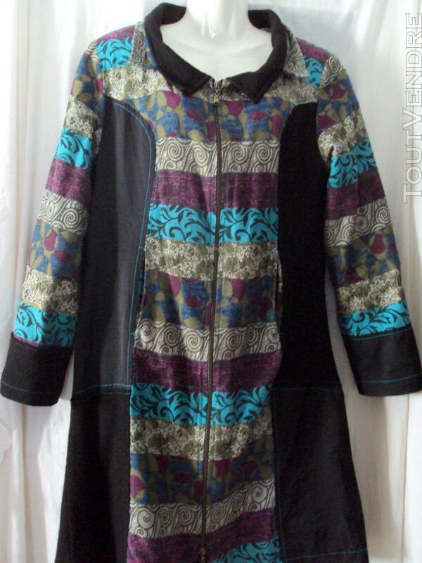 Manteau sympa noir & multicolore 40 247822453