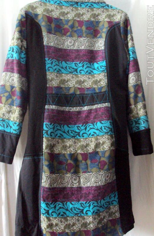 Manteau sympa noir & multicolore 40 247822537