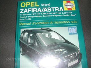 Manuel revue technique haynes Opel zafira. Astra  diese