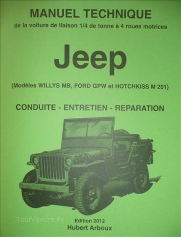 Manuel technique de la Jeep (Willys MB. Ford GPW. Hotchkiss 69132282