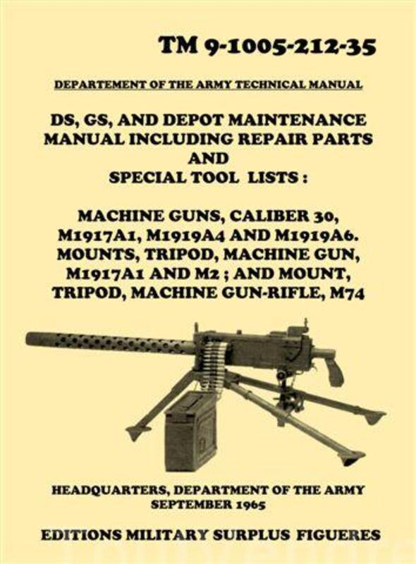Manuel TM 9-1005. Mitrailleuse BROWNING 1919 calibre 30 69133815
