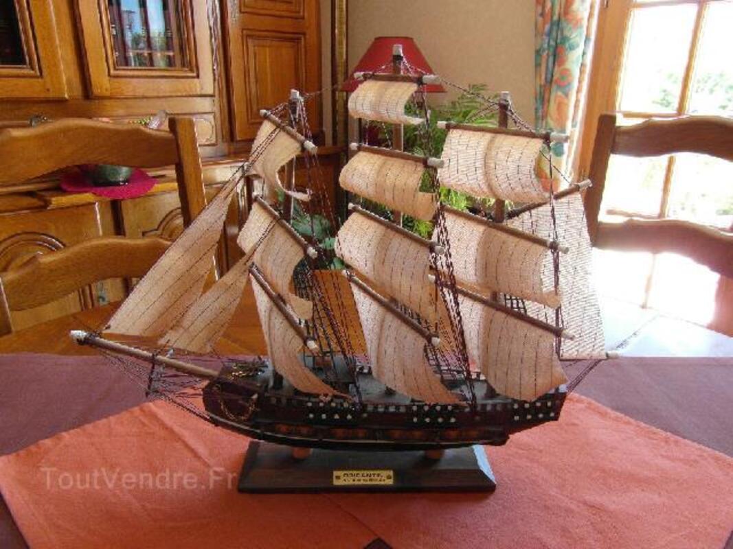 Maquette Bateau en bois Brigantin 18ème siècle 94096462