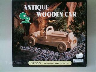 Maquette bois Voiture ancienne MERCEDES SSKL 1931