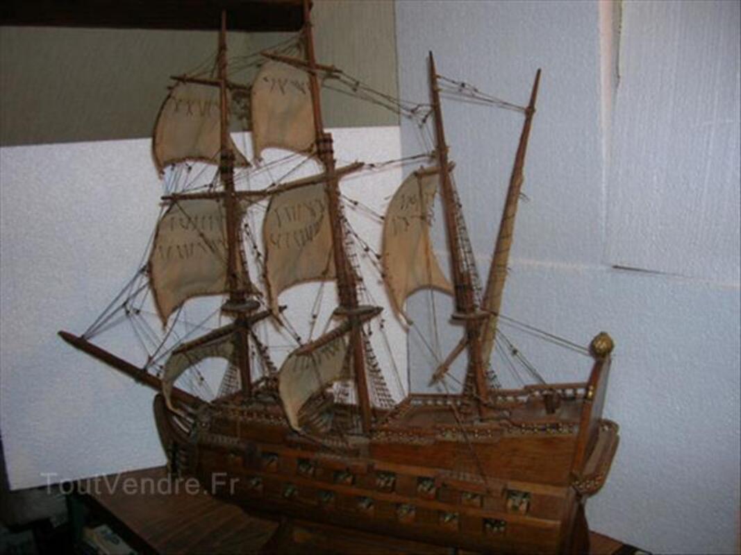 Maquette de bateau ancienne canons bronze 87347352