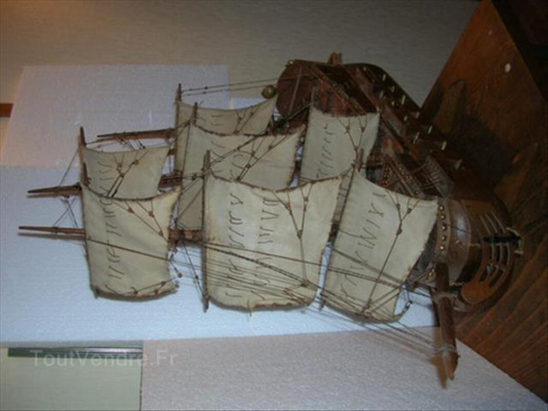 Maquette de bateau ancienne canons bronze 87347353