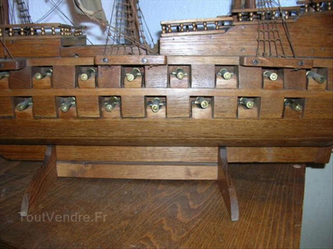 Maquette de bateau ancienne canons bronze 87347354
