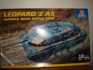 Maquette ITALERI LEOPARD 2 A5 1/35