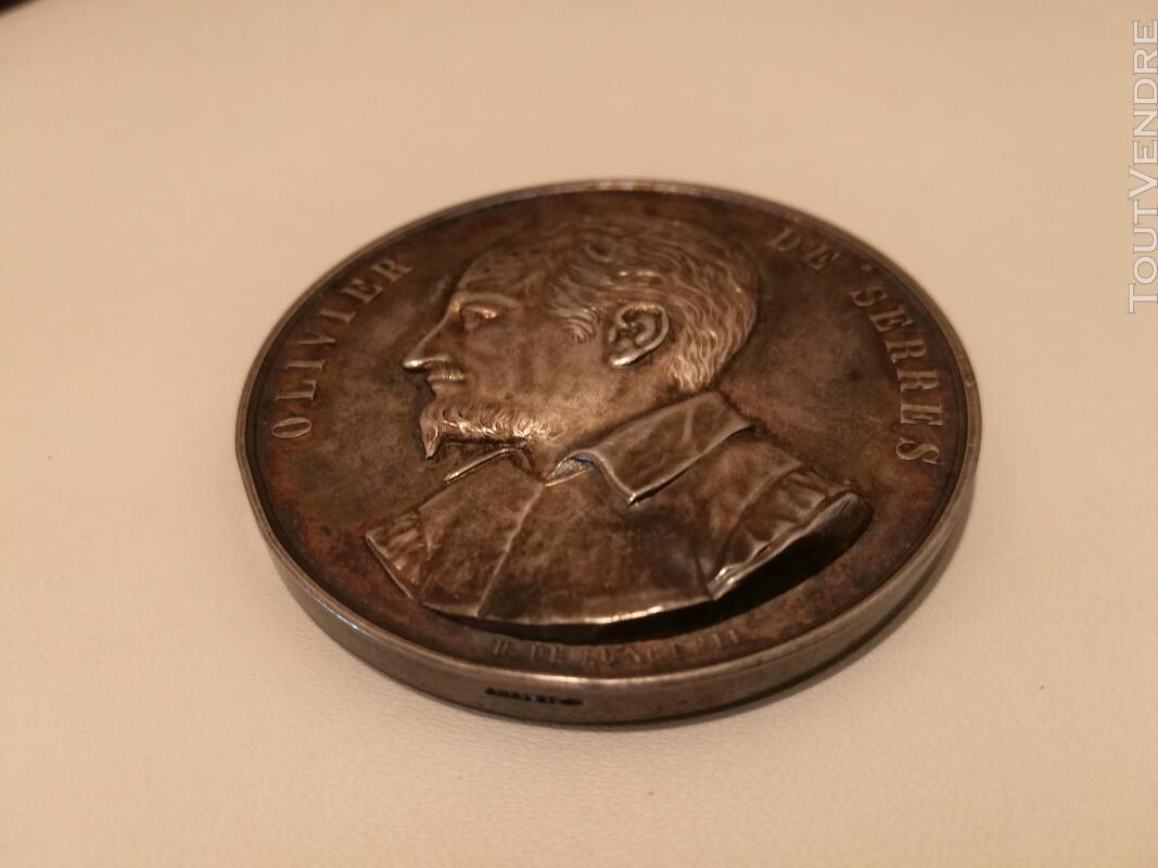Médaille Argent&Ecrin XIXème H De Longueil suxn 277262783