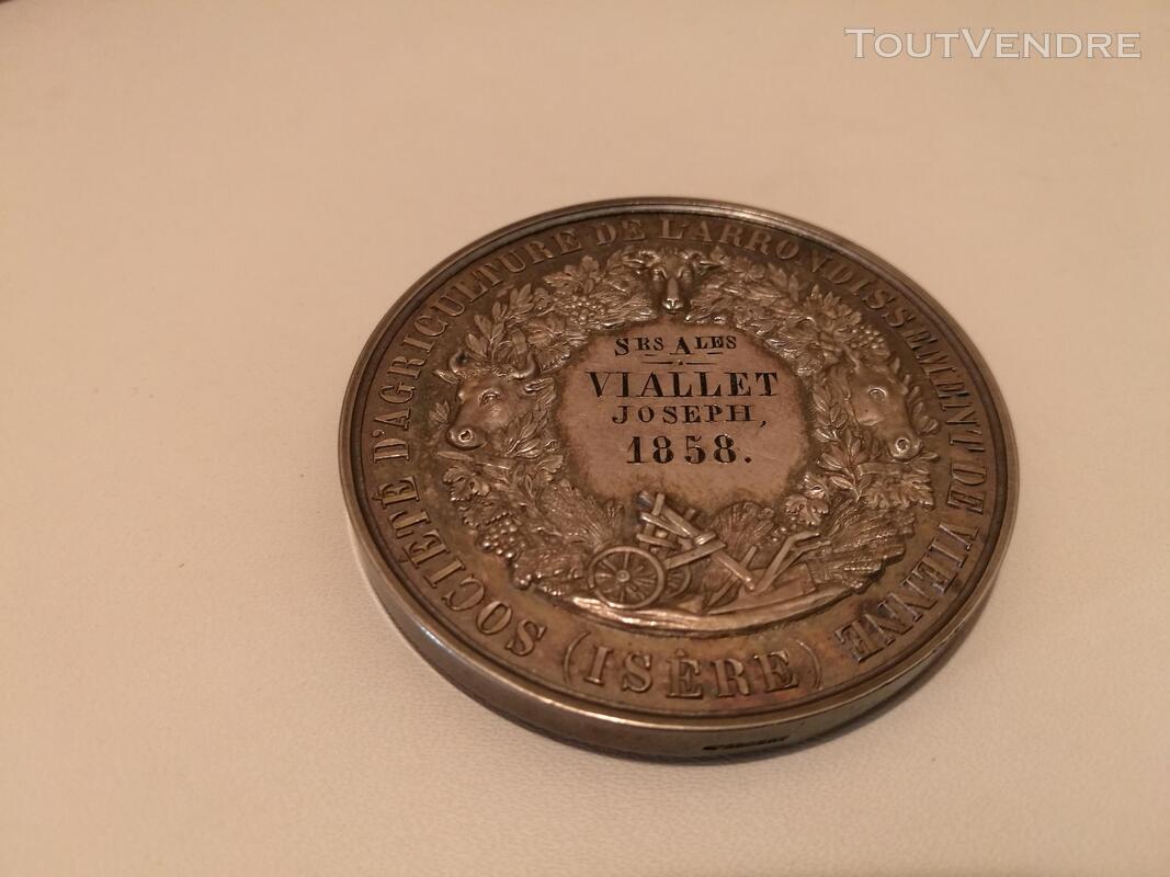 Médaille Argent&Ecrin XIXème H De Longueil suxn 277262789