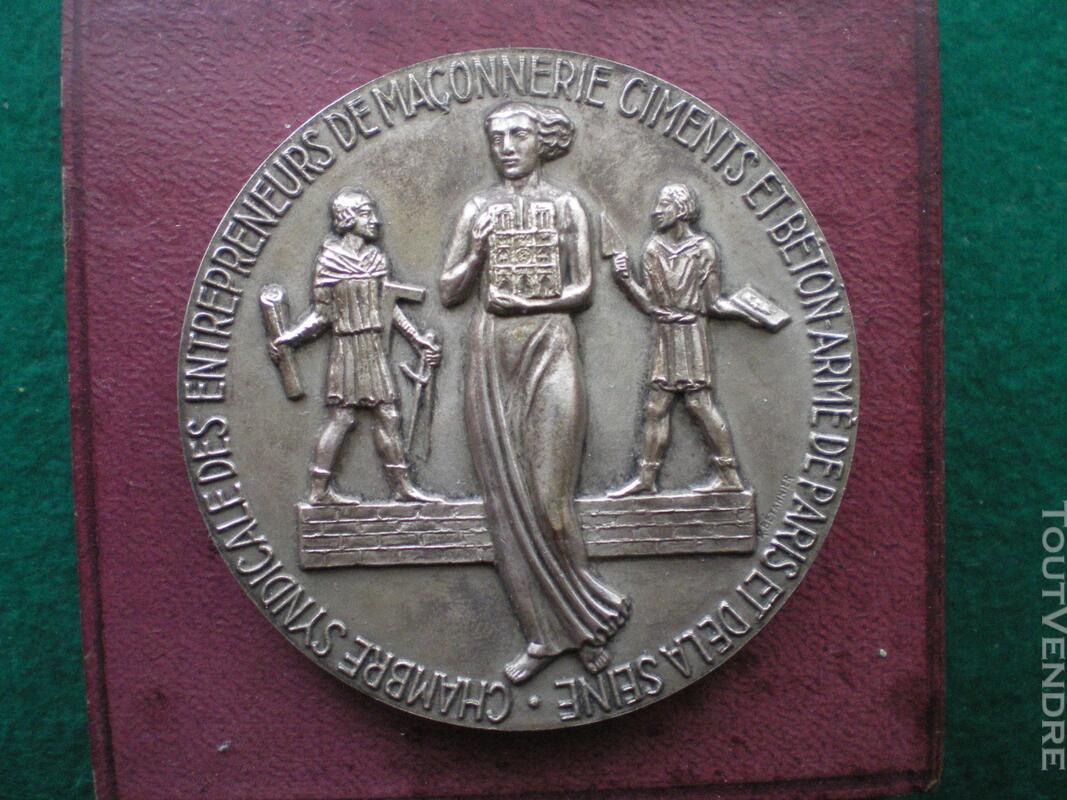 Médaille de la Chambre Syndicale des Ciments et Bétons. 128858467