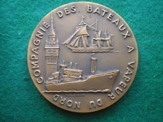 Médaille de la Compagnie des Bateaux à vapeurs du Nord.