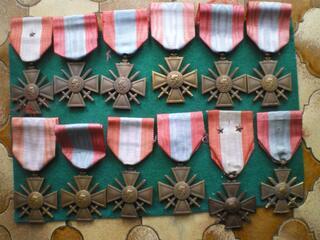 Médailles - Croix de guerre T.O.E.