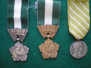 Médailles d'Honneur Départementale et Communale 1921-1945.