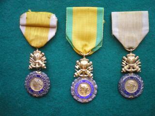 Médailles militaires 3° et 4° République. Military medal