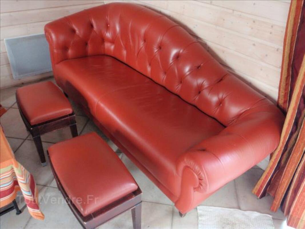 Méridienne cuir rouge LIGNE ROSET 87983002