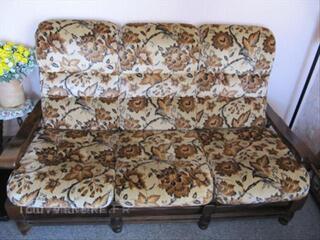 Meuble Canapé avec 2 fauteuils Bois massif