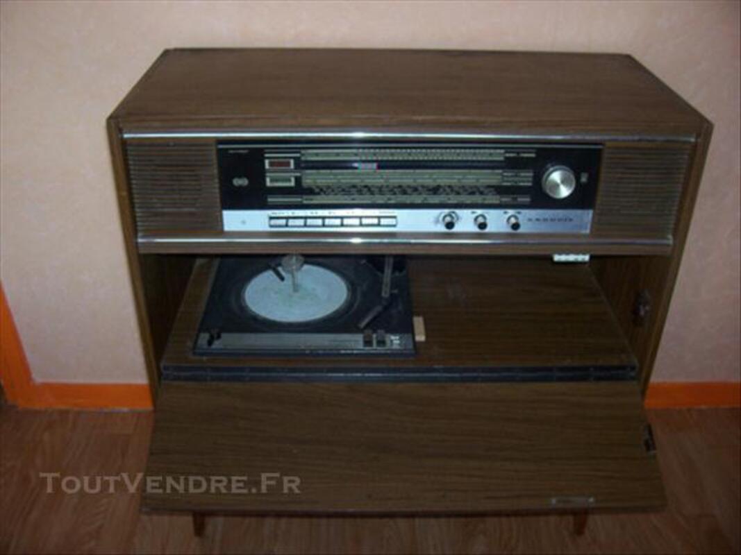 Meuble combiné radio- tourne disque vintage GRUNDIG 76202696