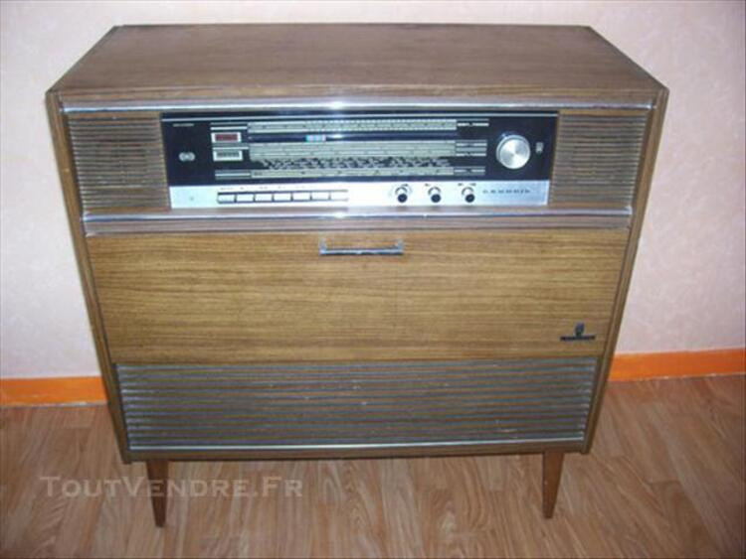 Meuble combiné radio- tourne disque vintage GRUNDIG 76202698