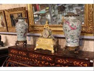 Meubles anciens , miroir doré,tableau,pendules