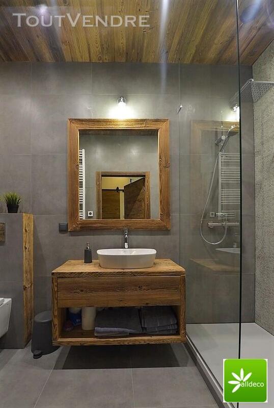 Meubles de salle de bain en vieux bois 487877549