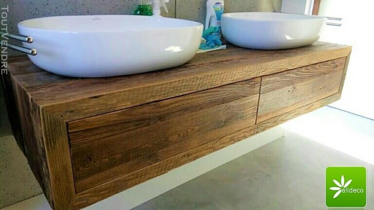 Meubles de salle de bain en vieux bois 487877552