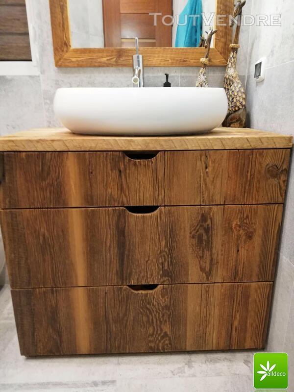 Meubles de salle de bain en vieux bois 487877555