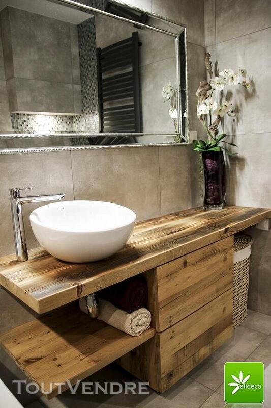 Meubles de salle de bain en vieux bois 487877558