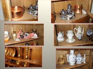 Meubles+objets décoration en cuivre, plateau marocain, vases