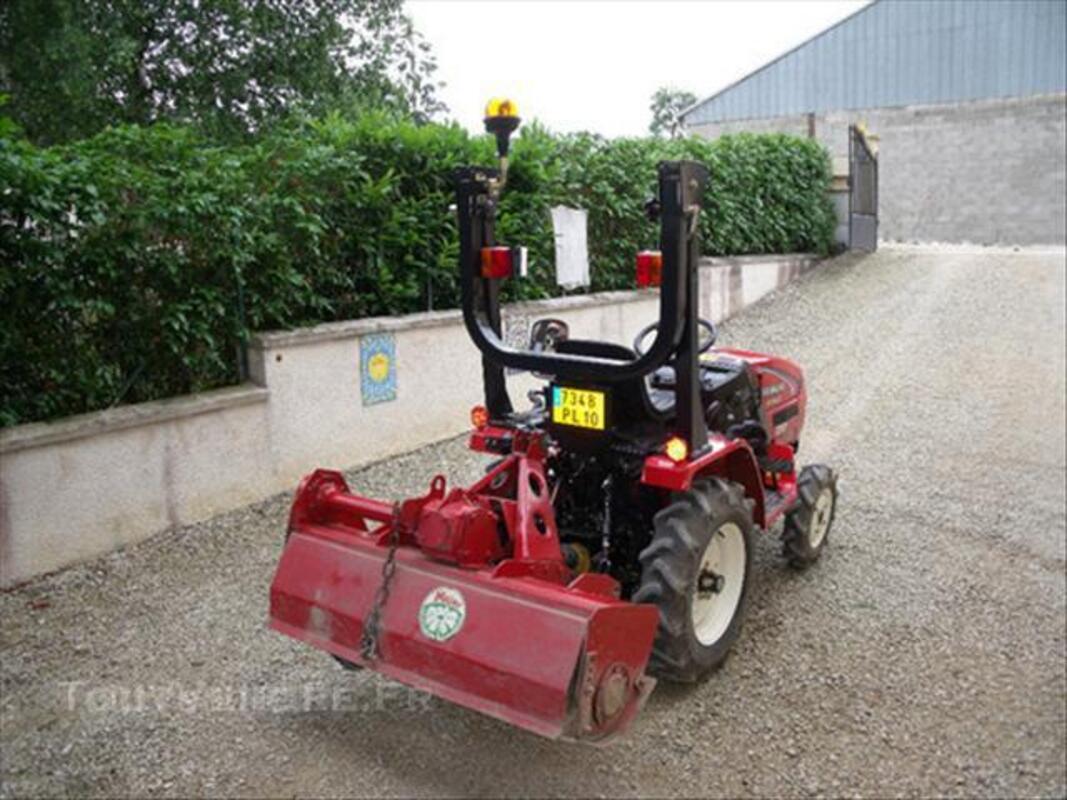 Micro tracteur yanmar KE 140 avec fraise et charrue 44976932