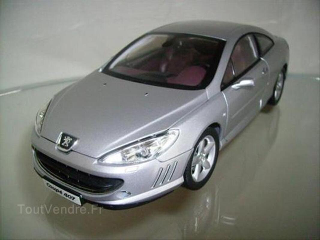 Miniature Peugeot 407 Coupé Norev 1/18 Gris 55938320