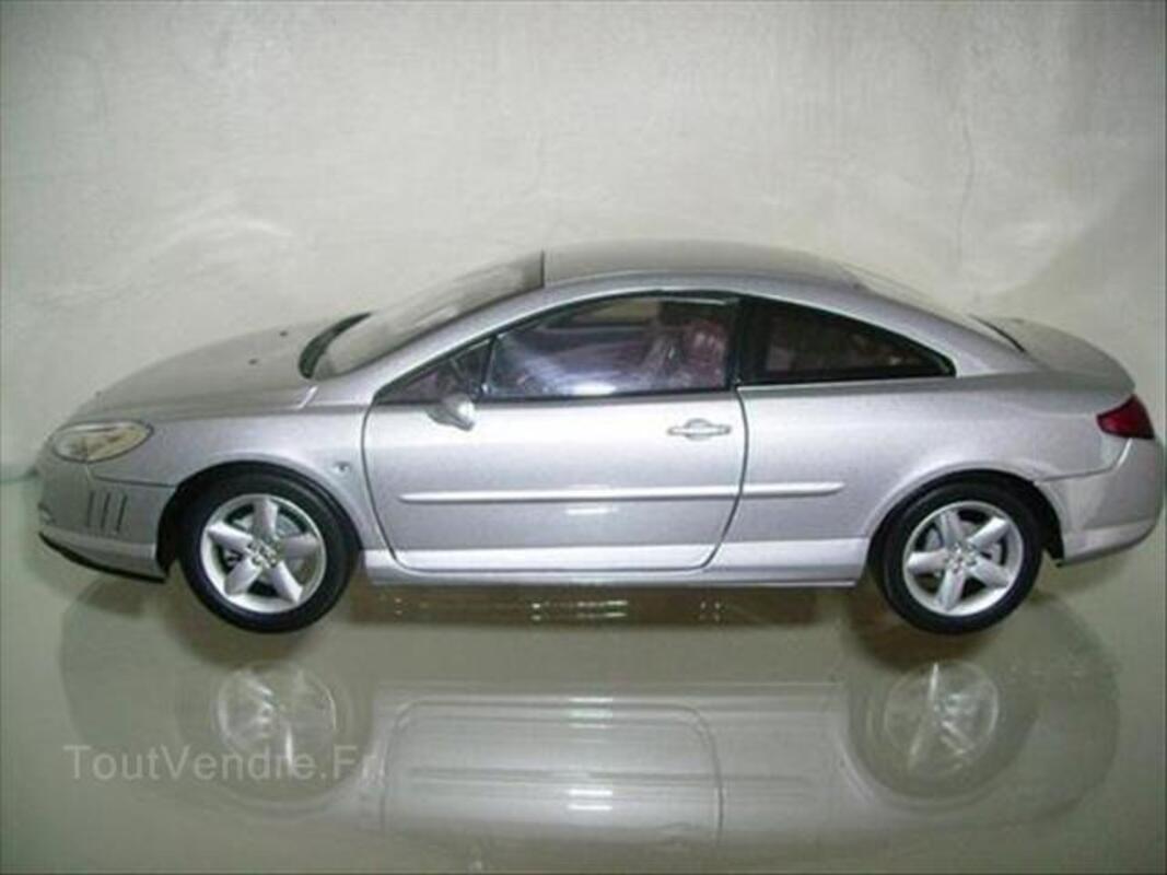 Miniature Peugeot 407 Coupé Norev 1/18 Gris 55938321