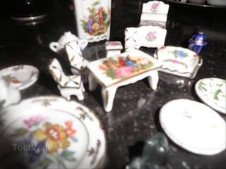 Miniatures porcelaine de Limoges véritable