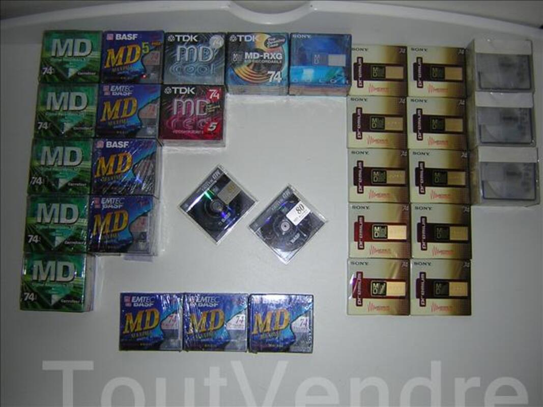 Minidiscs vierges, neufs, Sony, TDK, BASF et Carrefour 92313930