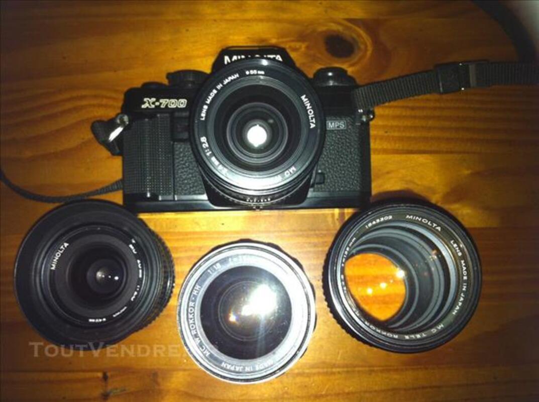 Minolta X700 (appareil photo argentique + 4 objectifs 84054772