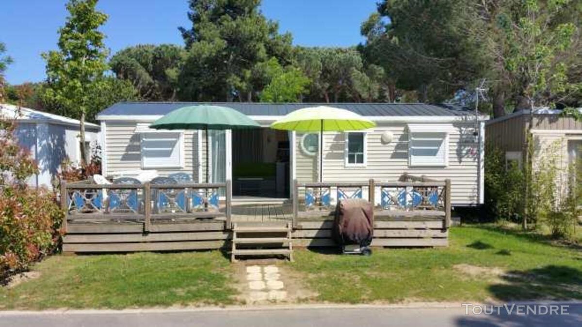 Mobil home 40m² ( 3ch-2sdb) camping 5* la sirène 177016295