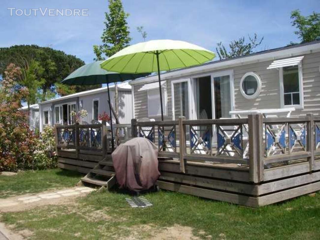 Mobil home 40m² ( 3ch-2sdb) camping 5* la sirène 177016298
