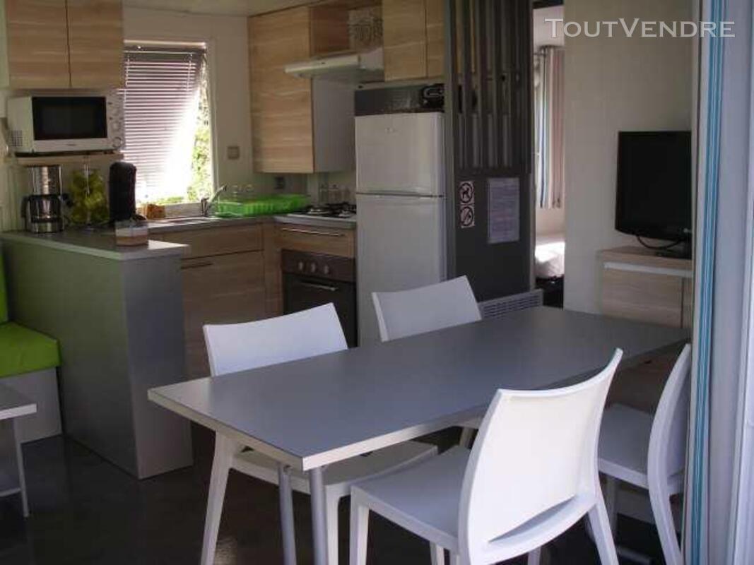 Mobil home 40m² ( 3ch-2sdb) camping 5* la sirène 177016316