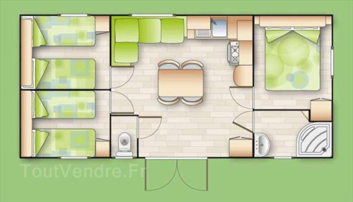Mobil-home occasion 2009 3ch 33m² sur parcelle. Eden camping 62687871