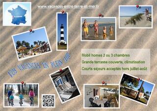 Mobil homes 2 ou 3 chambres village de vacances La Pignade