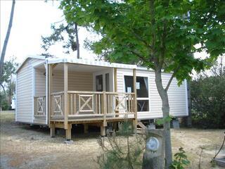 Mobile home à louer 2 chambres sur camping avec piscine
