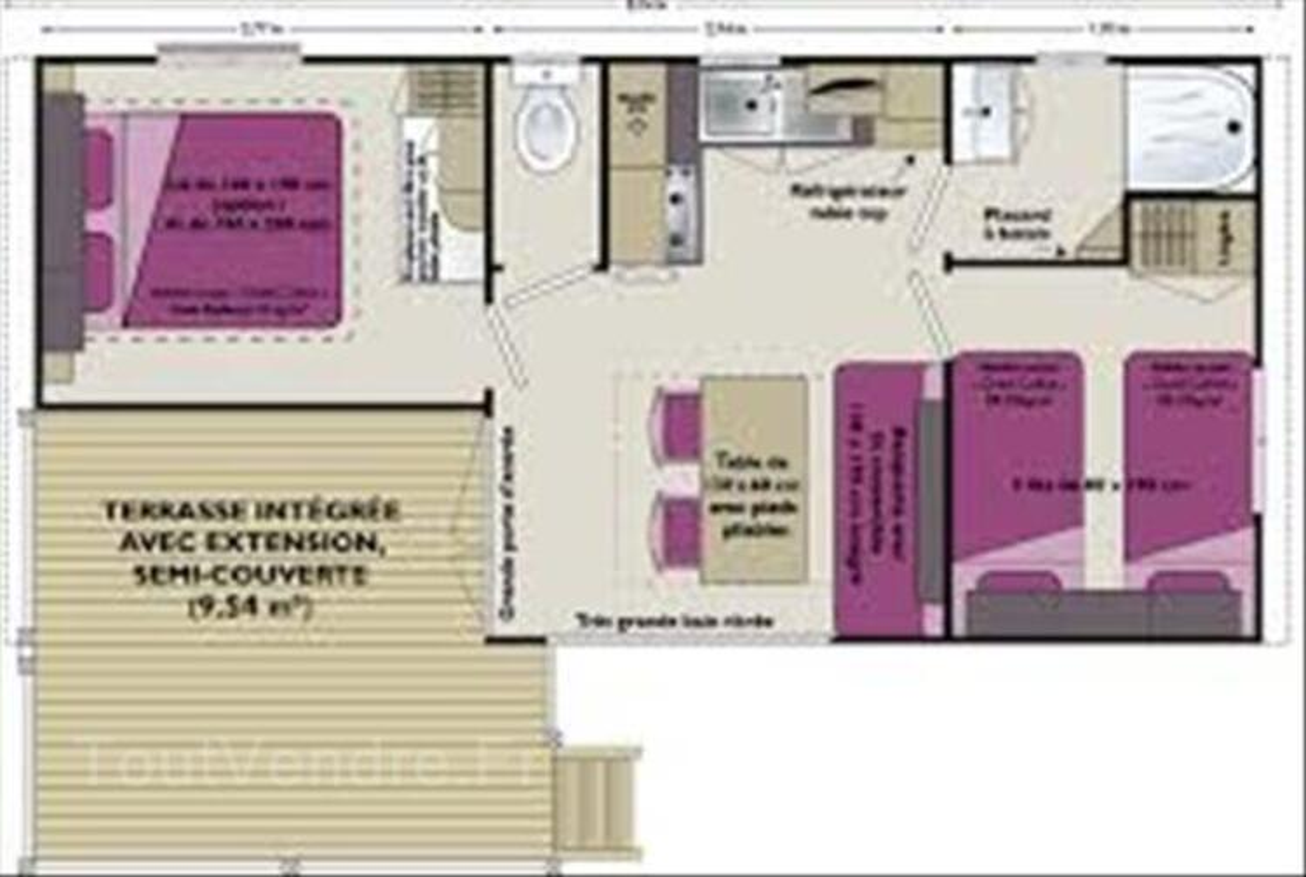 Mobile home à louer 2 chambres sur camping avec piscine 86960133
