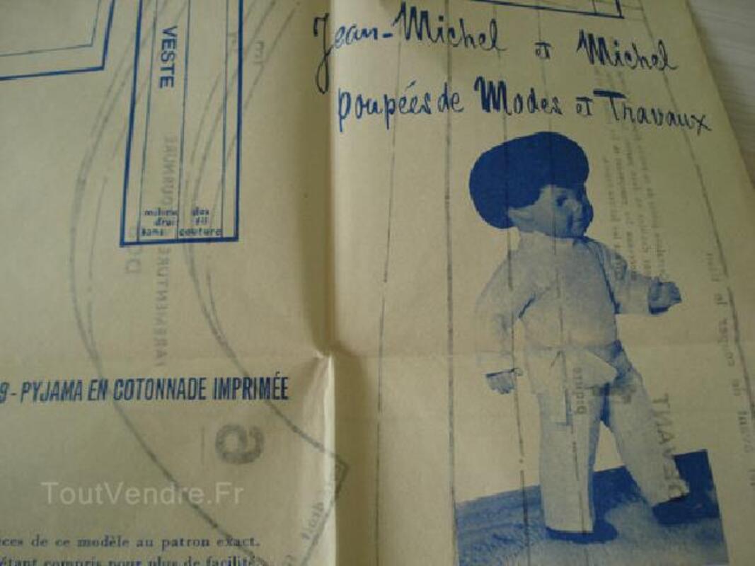 Modes et Travaux patrons pour poupées Septembre 1971 89826059