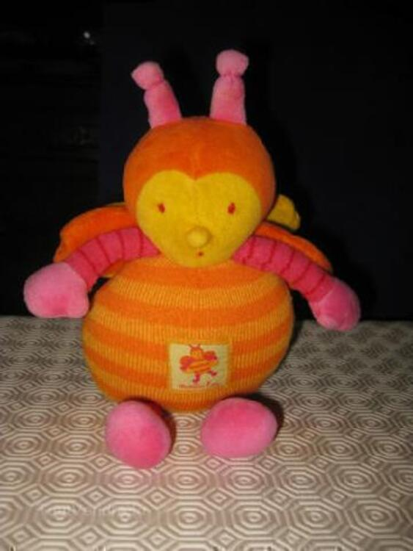 MOULIN ROTY Doudou LOUNA L'abeille + hochet + KALOO 105411567