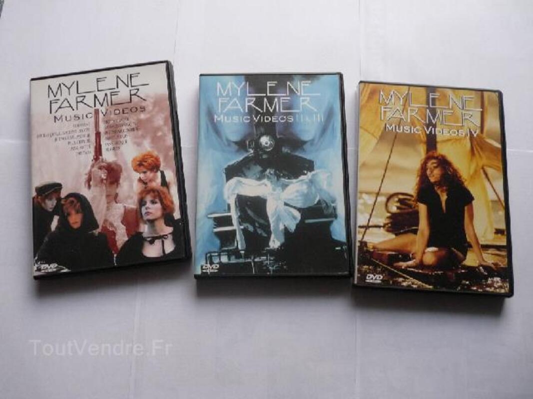 MYLENE FARMER 3 DVD intégrale CLIPS Music Videos 97237376
