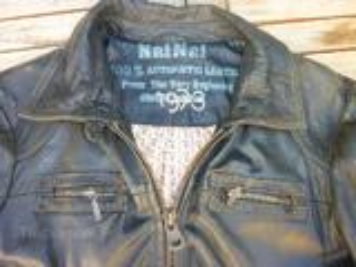 NAFNAF veste blouson en cuir NAF NAF taille L 38 40