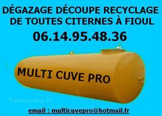 Nettoyage degazage decoupe de cuve à fioul Colmar Mulhouse