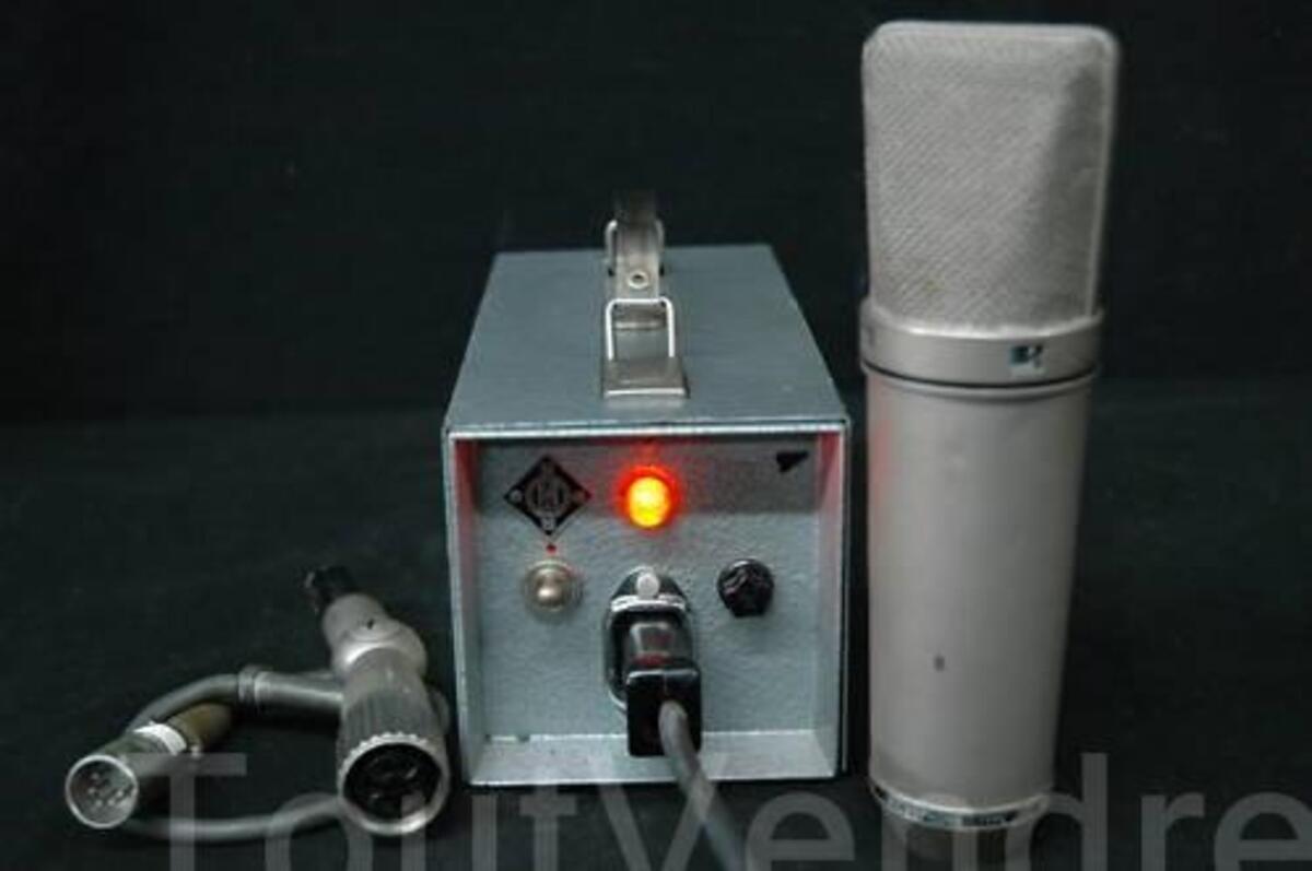 Neumann Vtg U67 Tube Microphone Cable & Power Supply 11367368