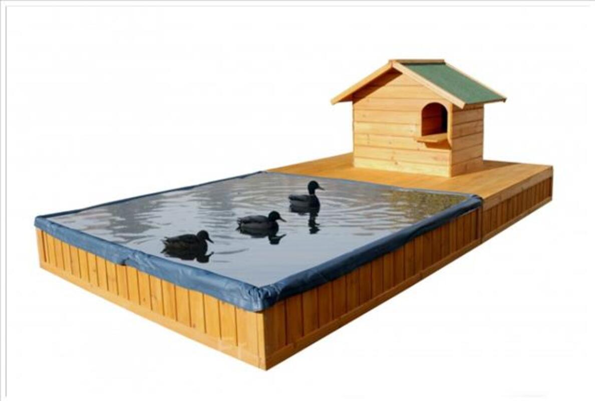 Nichoir bois avec bassin a eau neuf pour animaux 96545367