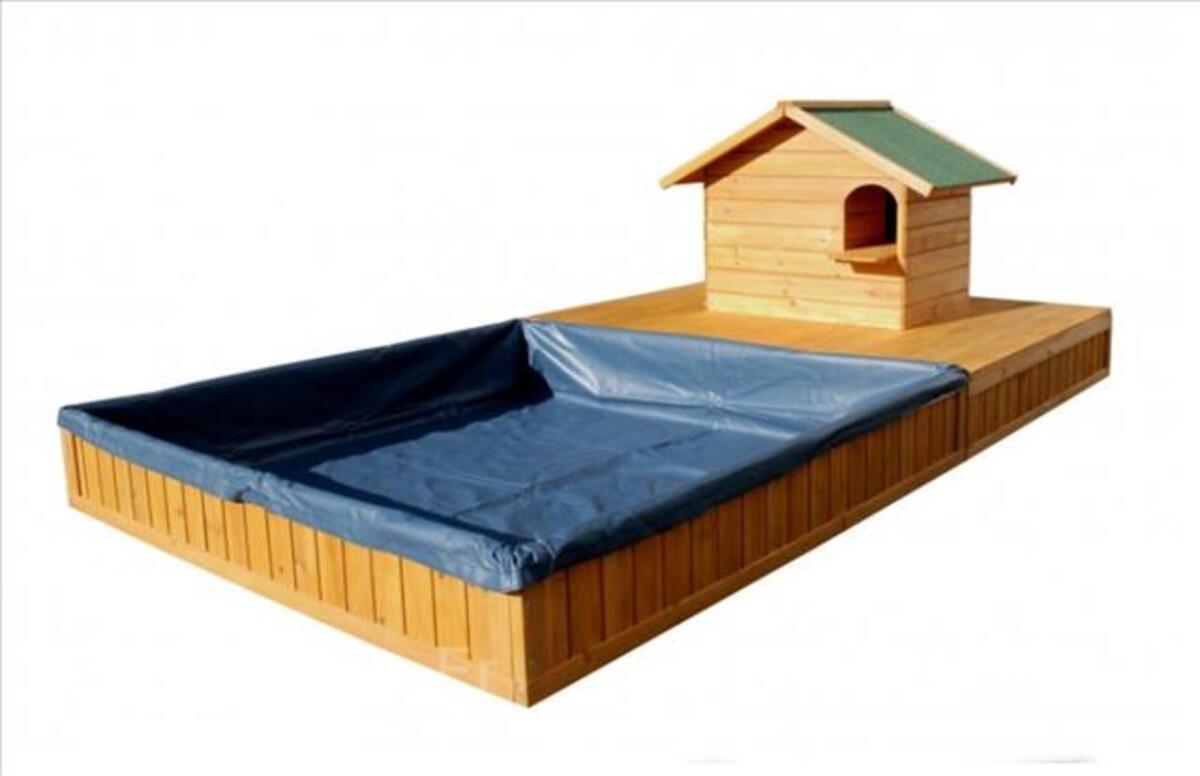 Nichoir bois avec bassin a eau neuf pour animaux 96545621